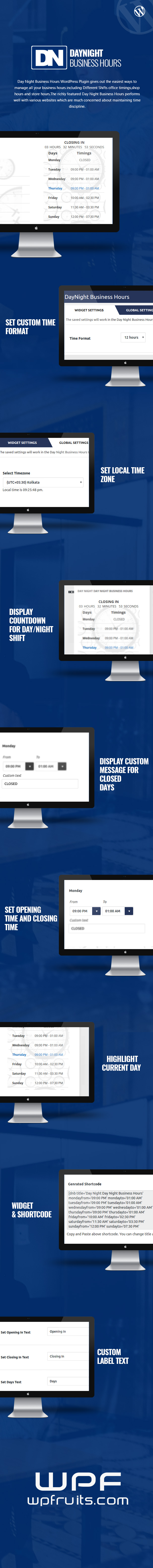 Day Night Business Hours WordPress Plugin (Utilities)