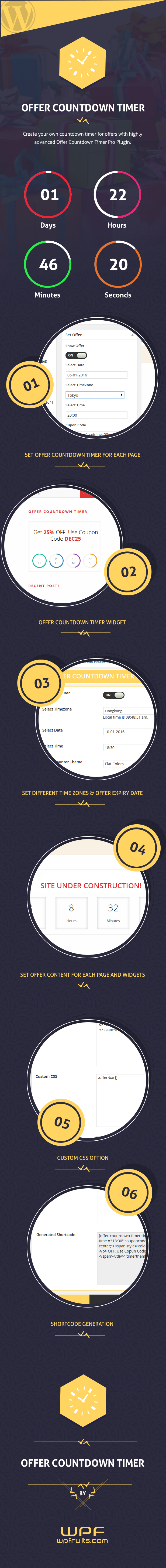 Offer CountDown Timer Pro WordPress Plugin for Events/Products/Offers 3